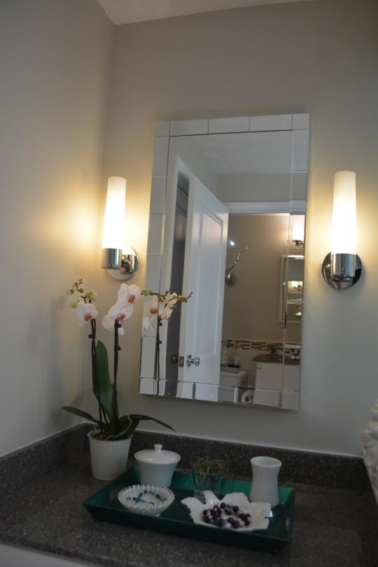 Modern Master Bath & Make-Up Counter