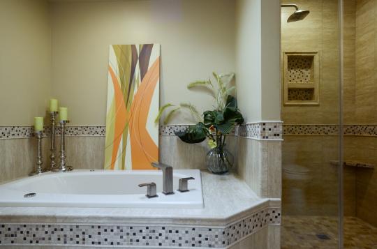 Warm Contemporary Master Bath