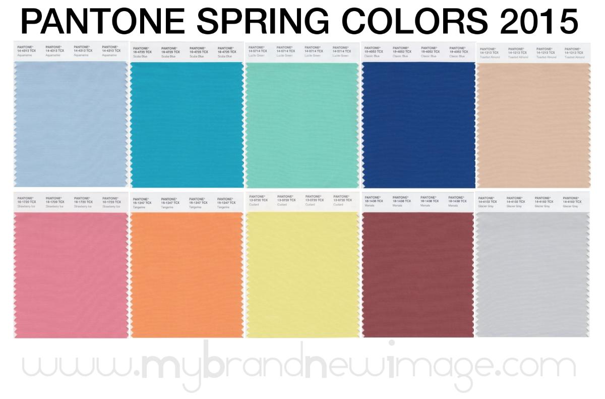 pantone spring colors