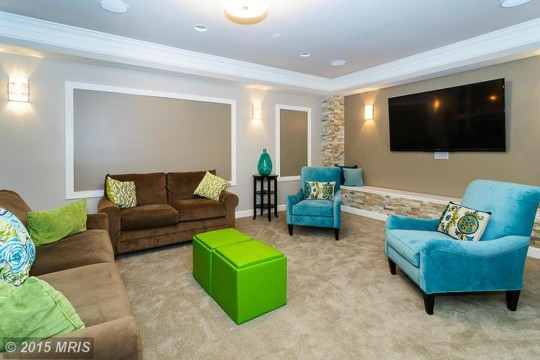 Modern Basement Finish