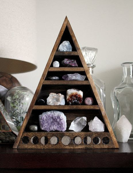 Create a crystal display to show off your geodes.