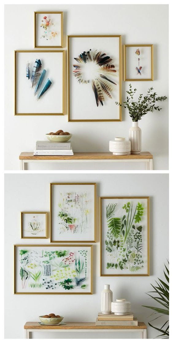 Frames are a great way to show off small and delicate items.