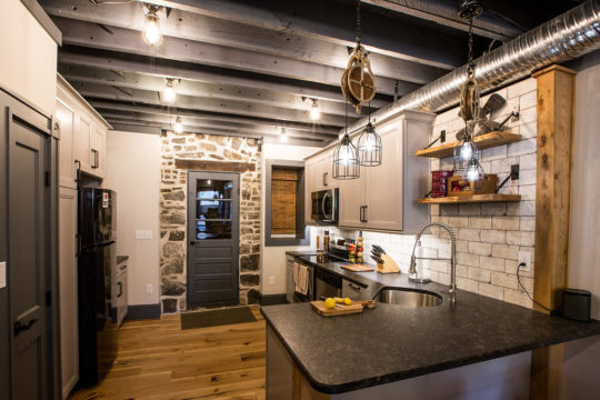 Industrial Kitchen and Great Room