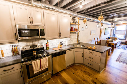 B Chic Interiors 187 Industrial Kitchen And Great Room In